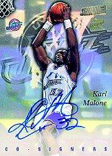 1997-98 Stadium Club Co-Signers #CO12 Karl Malone/John Starks
