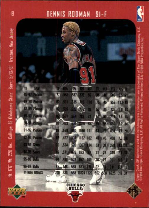 1997-98 SP Authentic #19 Dennis Rodman back image