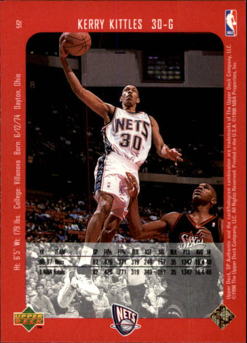 1997-98 SP Authentic #91 Kerry Kittles back image