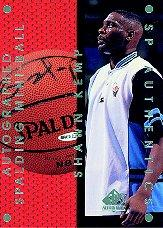1997-98 SP Authentic Authentics #SK3 Shawn Kemp/Signed Mini-ball/100