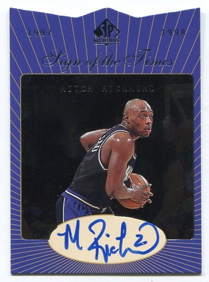 1997-98 SP Authentic Sign of the Times #MR Mitch Richmond