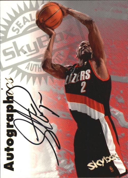 1997-98 SkyBox Premium Autographics #5 Stacey Augmon
