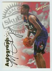 1997-98 SkyBox Premium Autographics #17 Marcus Camby