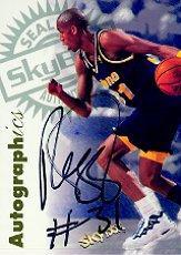 1997-98 SkyBox Premium Autographics #73 Reggie Miller