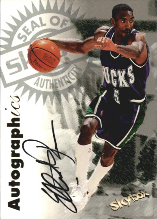 1997-98 SkyBox Premium Autographics #82 Elliot Perry