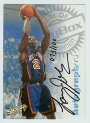 1997-98 SkyBox Premium Autographics Century Marks #58 Larry Johnson