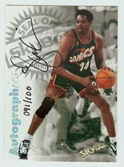 1997-98 SkyBox Premium Autographics Century Marks #81 Sam Perkins