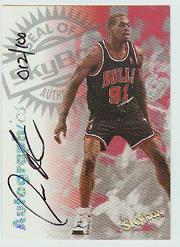 1997-98 SkyBox Premium Autographics Century Marks #91 Dennis Rodman
