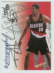 1997-98 SkyBox Premium Autographics Century Marks #108 Rasheed Wallace