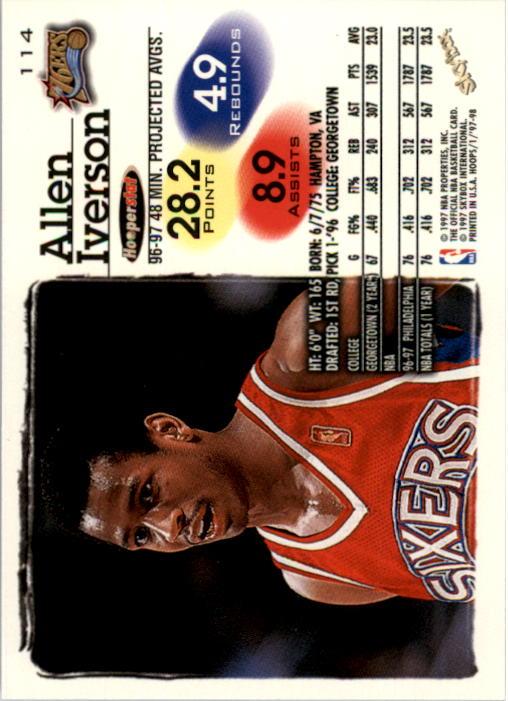 1997-98 Hoops #114 Allen Iverson back image