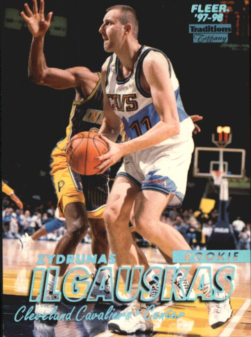 1997-98 Fleer Tiffany Collection #218 Zydrunas Ilgauskas