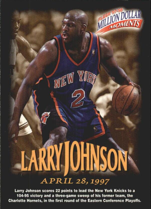 1997-98 Fleer Million Dollar Moments #39 Larry Johnson
