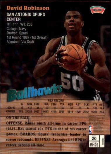 1997-98 Finest #20 David Robinson B back image