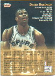 1997-98 Finest #146 David Robinson S back image