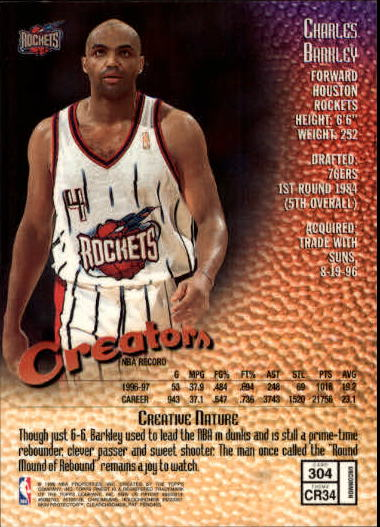 1997-98 Finest #304 Charles Barkley S back image