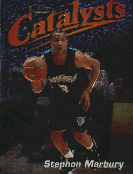1997-98 Finest Embossed #121 Stephon Marbury S
