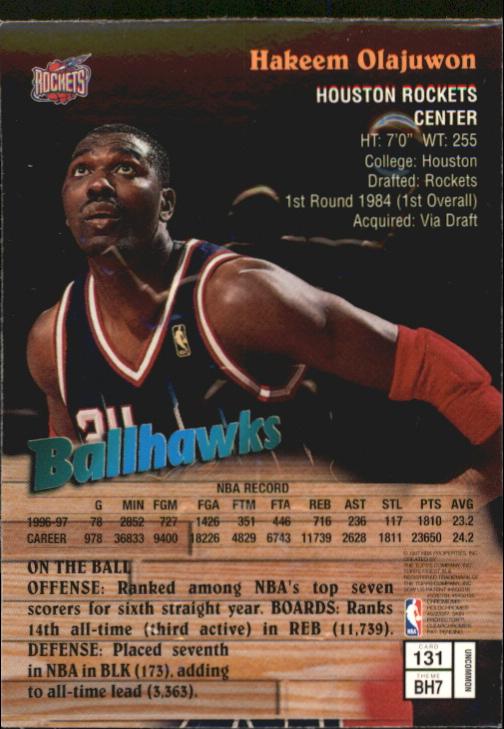 1997-98 Finest Embossed #131 Hakeem Olajuwon S back image