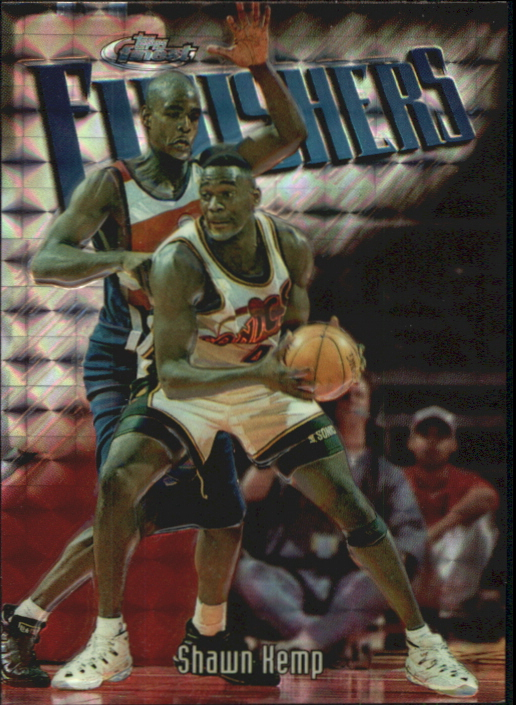 1997-98 Finest Embossed Refractors #130 Shawn Kemp S