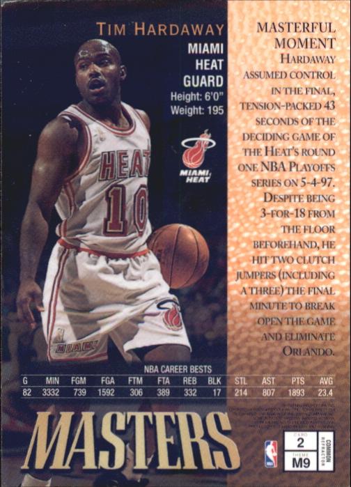 1997-98 Finest Refractors #2 Tim Hardaway B back image