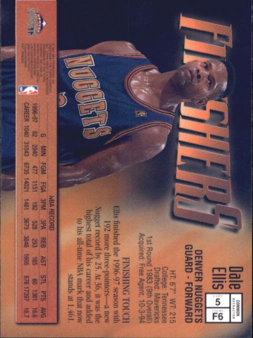 1997-98 Finest Refractors #5 Dale Ellis B back image