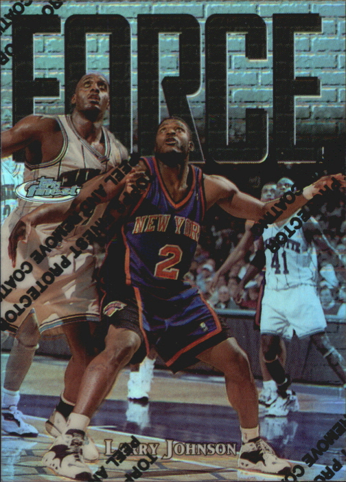 1997-98 Finest Refractors #139 Larry Johnson S