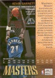 1997-98 Finest Refractors #246 Kevin Garnett B back image