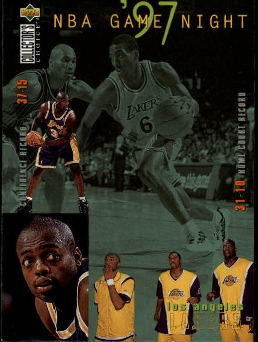 1997-98 Collector's Choice #168 Eddie Jones/Shaquille O'Neal/Kobe Bryant/Nick Van Exel
