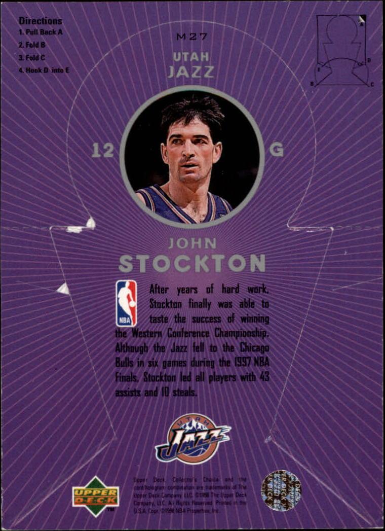 1997-98 Collector's Choice Miniatures #M27 John Stockton back image
