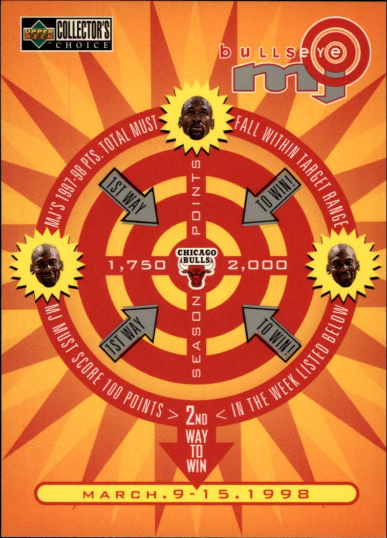1997-98 Collector's Choice MJ Bullseye #B11 Michael Jordan 3/9/1,750 L