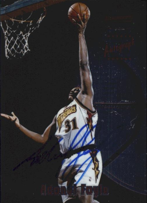 1997-98 Bowman's Best Autographs #125 Adonal Foyle