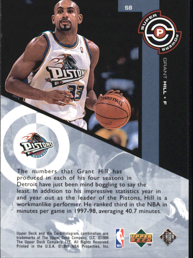 1998-99 Upper Deck Super Powers #S8 Grant Hill back image