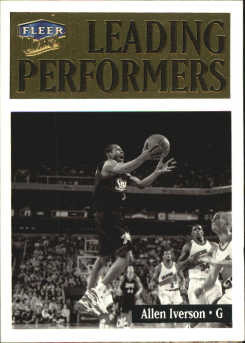 1998-99 Ultra Leading Performers #1 Allen Iverson