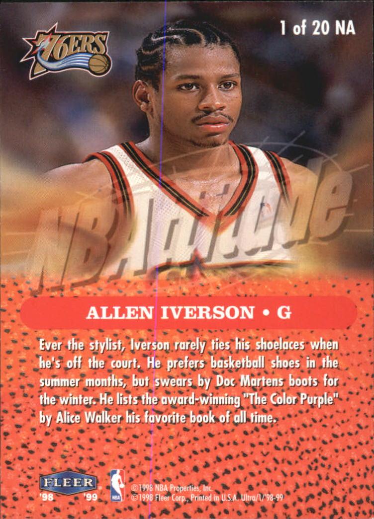 1998-99 Ultra NBAttitude #1 Allen Iverson back image