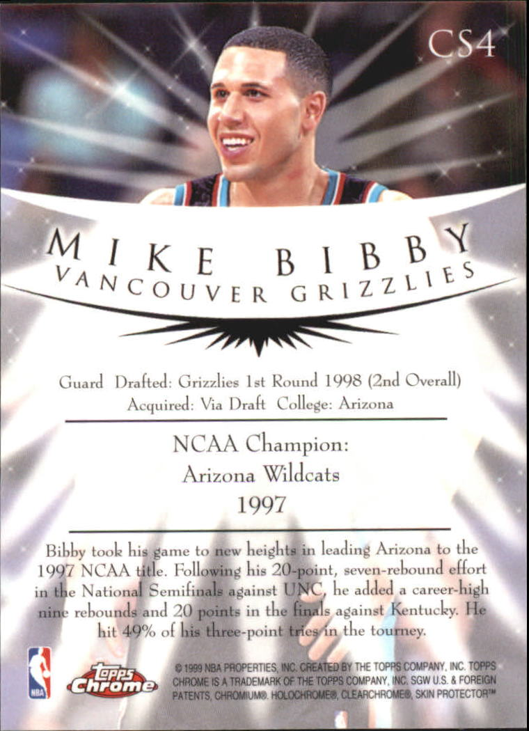 1998-99 Topps Chrome Champion Spirit #CS4 Mike Bibby back image