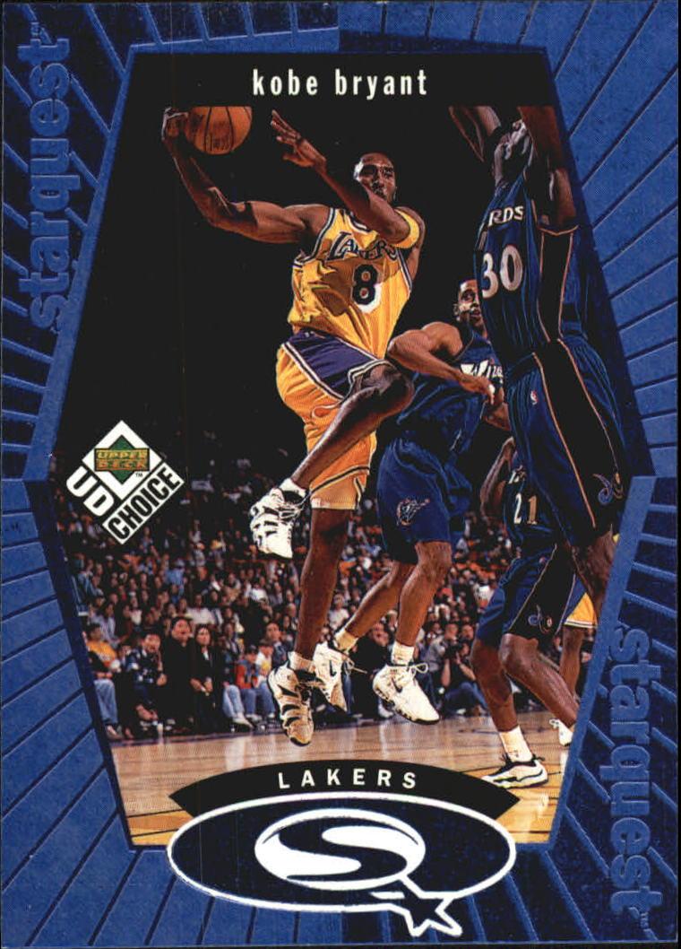 1998-99 UD Choice StarQuest Blue #SQ13 Kobe Bryant