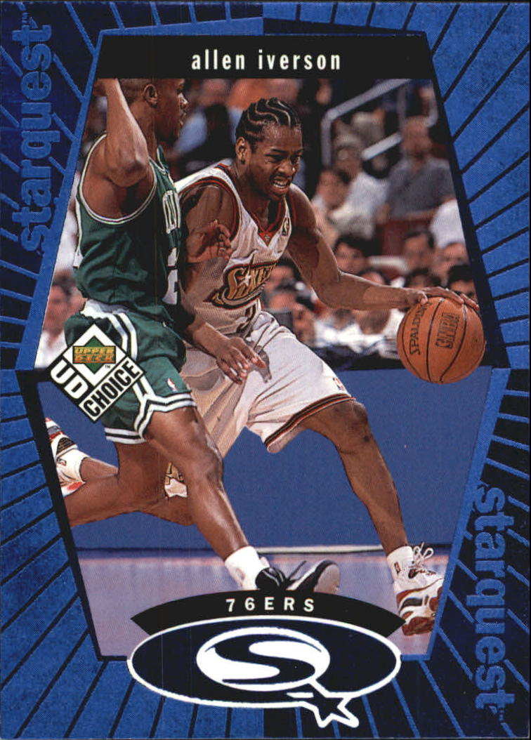1998-99 UD Choice StarQuest Blue #SQ20 Allen Iverson