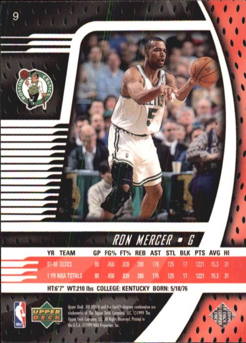 1998-99 UD Ionix #9 Ron Mercer back image