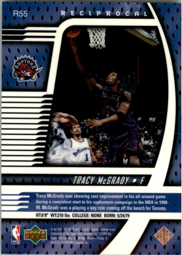 1998-99 UD Ionix Reciprocal #R55 Tracy McGrady back image
