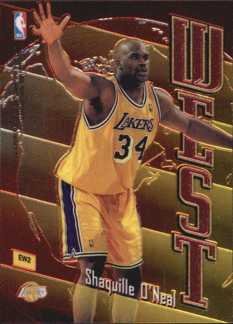 1998-99 Topps East/West #EW2 Alonzo Mourning/Shaquille O'Neal back image