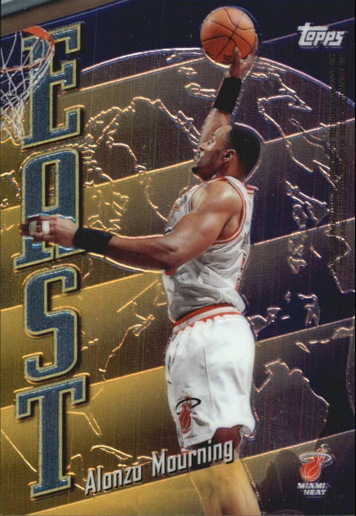 1998-99 Topps East/West #EW2 Alonzo Mourning/Shaquille O'Neal