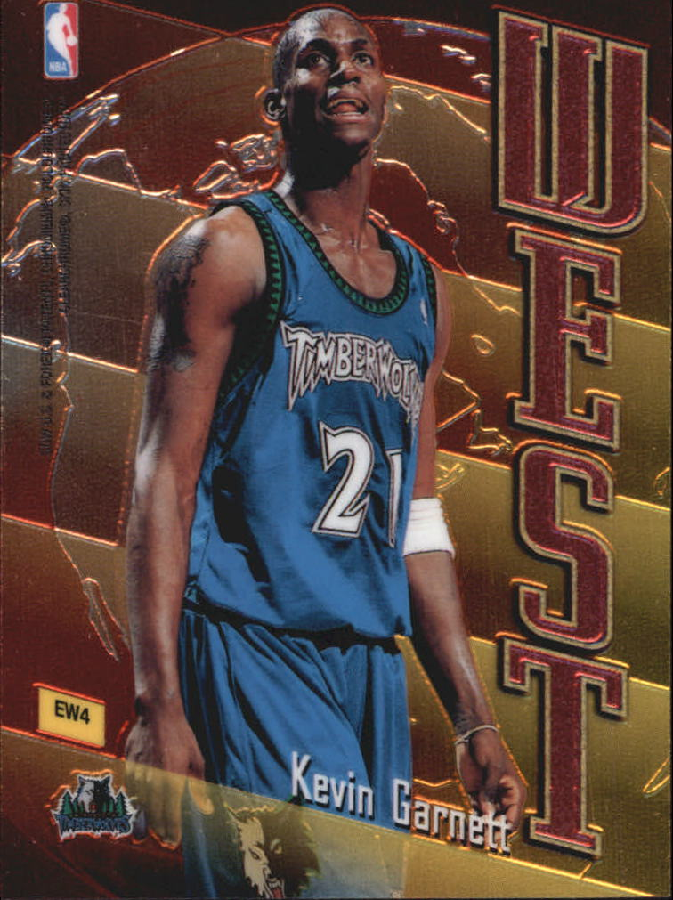 1998-99 Topps East/West #EW4 Scottie Pippen/Kevin Garnett back image