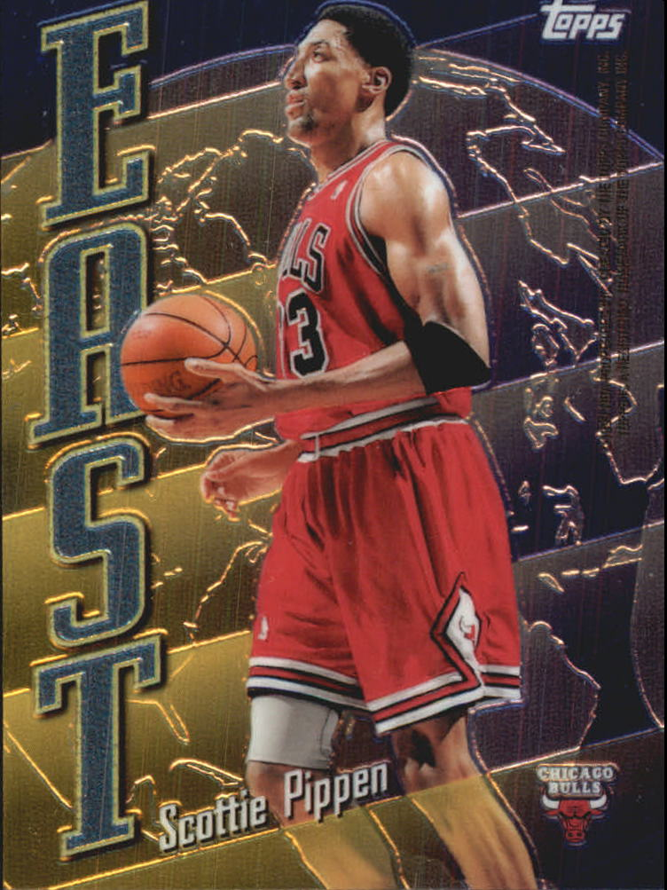 1998-99 Topps East/West #EW4 Scottie Pippen/Kevin Garnett