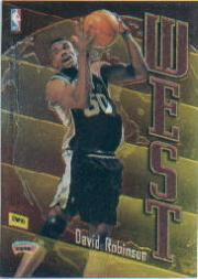 1998-99 Topps East/West #EW10 Patrick Ewing/David Robinson back image