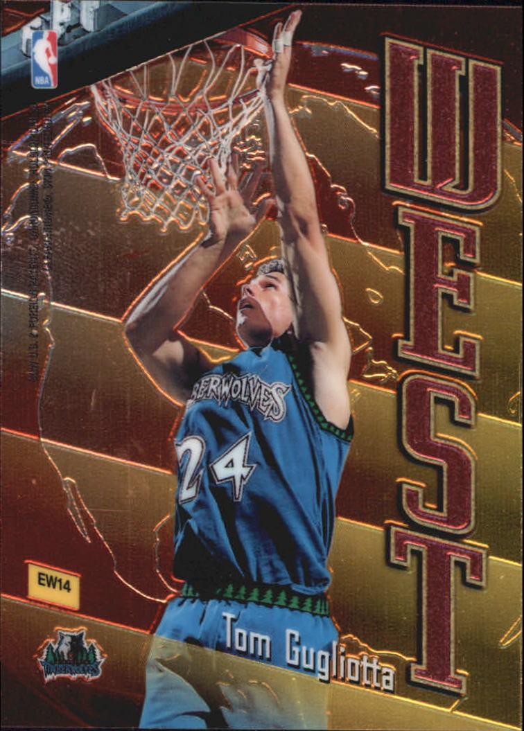 1998-99 Topps East/West #EW14 Anthony Mason/Tom Gugliotta back image