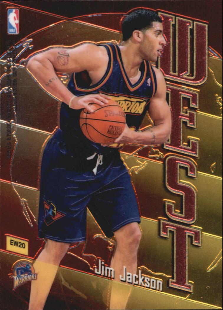 1998-99 Topps East/West #EW20 Reggie Miller/Jim Jackson back image