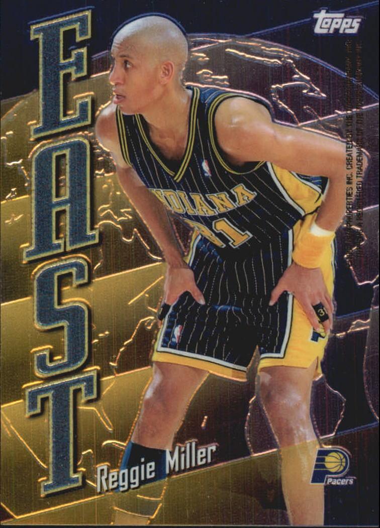 1998-99 Topps East/West #EW20 Reggie Miller/Jim Jackson