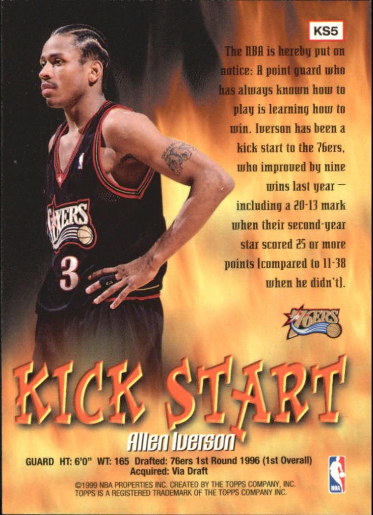 1998-99 Topps Kick Start #KS5 Allen Iverson back image