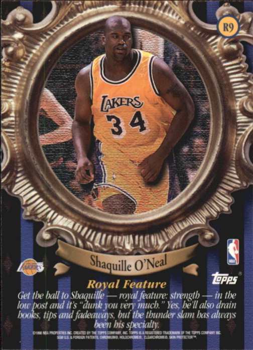 1998-99 Topps Roundball Royalty #R9 Shaquille O'Neal back image