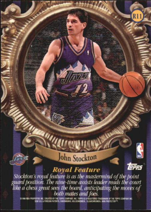 1998-99 Topps Roundball Royalty #R11 John Stockton back image