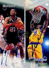 1998-99 Stadium Club Co-Signers #CO1 Tim Duncan/Kobe Bryant